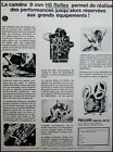 4483 PUBLICITE ADVERT CAMERA PAILLARD BOLEX 8 MM H8 REFLEX Movie Camera AD 1965