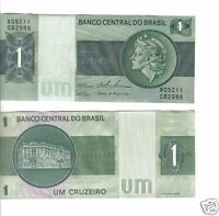 Brasil BRAZIL Billete 1 CRUZEIRO ND (1976) NUEVO UNC