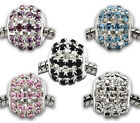 10 Mixte Perles Strass Ajouré pr Bracelet charm 12x11mm
