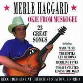 Okie from Muskogee: 25 Great Songs Live at Church Street, Haggard, Merle CD | 50