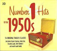 NUMBER 1 HITS OF THE 1950s - 2 CD BOX SET - 54 ORIGINAL TIMELESS CLASSICS