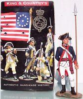 KING & COUNTRY AMERICAN REVOLUTION AR069 RHODE ISLAND REG. ARTILLERY OFFICER MIB