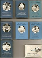 Franklin Mint Lot of Perfect Commemoratives in holders, 1970's