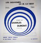 Partition vintage music sheet CHARLES DUMONT : Les Souvenirs * 80's * EX