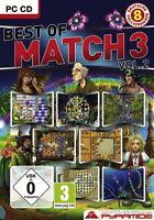 BEST OF MATCH 3 VOL. 2  SPIELESAMMLUNG  PC CD-ROM