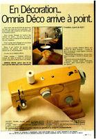 Publicité ancienne machine à coudre omnia déco 1972 issue de magazine