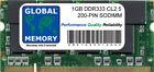 1 GO DDR 333Mhz PC2700 200 BROCHES SODIMM MÉMOIRE RAM pour ordinateurs portables