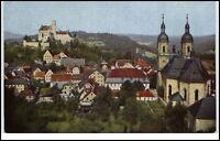 Gößweinstein Bayern AK ~1920/30 Teilansicht mit Wallfahrtskirche Kirche Church