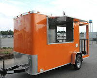 NEW 6x14 6 X 14 Enclosed Concession Food Vending BBQ Porch Trailer * MUST SEE *