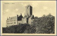 Eisenach Thüringen alte Postkarte ~1920/30 Wartburg von Osten ungelaufen