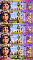 LOT Easter Island, 5 x 2500 (2,500) Rongo, 2011, Polymer, UNC