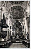 Niederalteich Bayern Postkarte 1963 gelaufen Innenansicht Klosterkirche