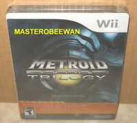Metroid Prime Trilogy Collector's Edition New Sealed Nintendo Wii, 2009) & Wii U