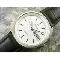 Omega Seamaster Mens Wrist Watch Automatic White Dial Day and Date