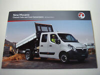 Vauxhall . Movano . Chassis Cabs . 2011 Models Edition 1 Sales Brochure