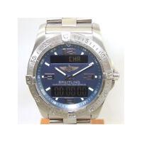 BREITLING Aerospace Men's Wrist Watch E79362 Quartz Navy Dial Titanium
