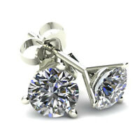 .20Ct Round Brilliant Cut Natural Diamond Stud Earrings Martini Set In 14K Gold