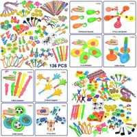 COCOMOON Easter Eggs Filler Party Toys 136 Pcs Favor For Kids Toy Assortment Bir