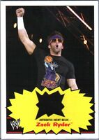 WWE Zack Ryder 2012 Topps Heritage Authentic Event Worn Shirt Relic Card FD30