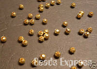 400 Gold plated Round Iron Metal Spacer Beads 2.4mm (E005)