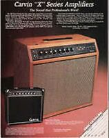 1984 VINTAGE AD FOR Carvin XV112E Series Amplifiers