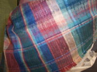 Red/Green Print Fabric/Upholstery Fabric Remnant 1 YD