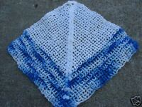 VINTAGE BLUE & WHITE CROCHET POTHOLDER