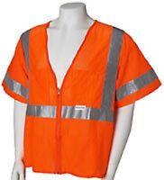 Jackson Safety 3009957 - Orange Vest Cl3 Lime Hi Refl-l