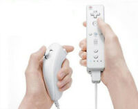 White Remote and Nunchuck Controller For Nintendo Wii