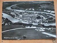 alte Postkarte Wasserburg / Inn Fliegeraufnahme