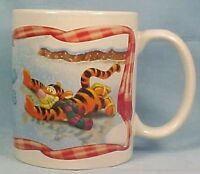 Adorable Winnie the Pooh Ice Skating Mug Eeyore Tigger Disney
