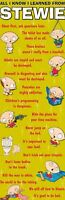 FAMILY GUY ~ STEWIE ALL I KNOW LEARNED DOOR POSTER