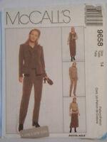 McCall's Pattern 9658 Jacket Pants Skirt Vest  Size 14