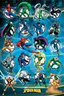 SPIDER-MAN ~ 20 CHARACTERS 24x36 CARTOON POSTER Marvel Amazing NEW/ROLLED!