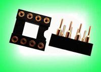 """4, 8 PIN GOLD DIP IC SOCKET ADAPTER 0.1"""" 2.54mm ,G8S m"""