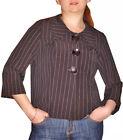 Veste paletot femmes rayé neuve pierre-cedric extensibl