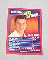 WEETBIX STAT ATTACK CRICKET CARD #22 - CULLEN BAILEY