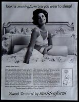 1962 Maidenform Sweet Dreams Bra Panties Magazine Ad