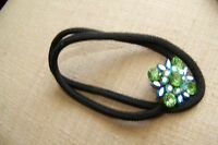 Tiara Misu Crystal Pony Tail Band, Green Blue Black