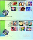 1998 Australian Rock'n'Roll on 2 FDC's - P&S Stamps