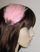 GWEN Light Pale Pink Fascinator FEATHER HAIR CLIP Baby Pink Wedding Accessory