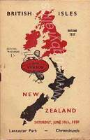 BRITISH LIONS 1950 v 2nd TEST NEW ZEALAND RUGBY PROGRAMME