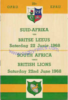 BRITISH LIONS 1968 2nd TEST v SOUTH AFRICA RUGBY PROGRAMME