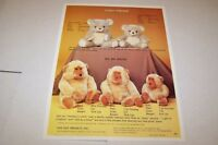 Vintage - DAN DEE IMPORTS TOYS - FUZZY FREDDIE - ad sheet #0459