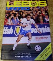 1982/83 DIVISION TWO - LEEDS UNITED v GRIMSBY TOWN