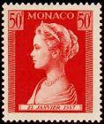 "MONACO N° 485 ""EFFIGIE PRINCESSE GRACE 50 F"" NEUF x TB"