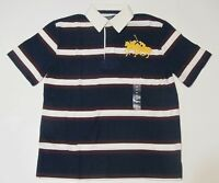 New with tag Ralph Lauren Boys Blue White SS Polo Shirt 5 6 Big Pony Dual Match