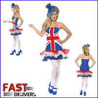 XS Union Jack Dress Fever's Rule Britannia TuTu Jubilee Olympics Fancy Dress