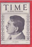 MARCH 10 1930 TIME magazine ROYAL CORTISSOZ