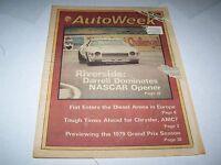 JAN 26 1979 AUTOWEEK vintage car magazine NASCAR - RIVERSIDE - DARRELL
